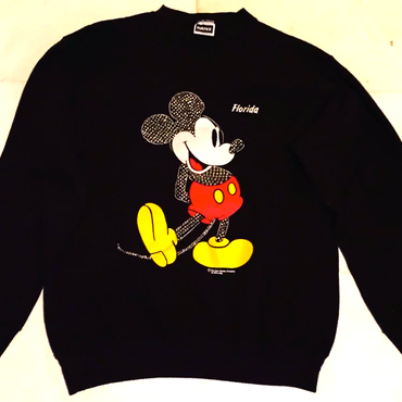 mickey mouse front and behind studded