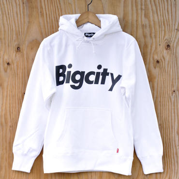 Bigcity LOGO 12オンス HOOD SWEAT  WHITE