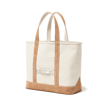 hobo : Cotton Canvas Tote Bag M with Cow Suede