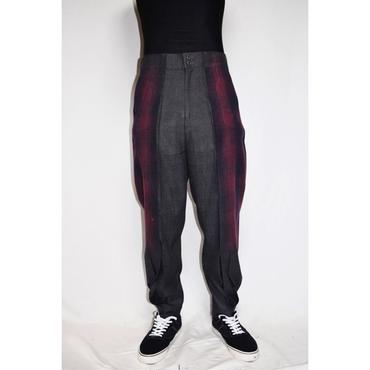 TAAKK : TEAR OFF CHECK TROUSERS