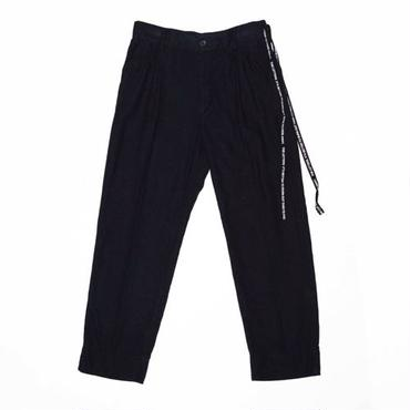 The Letters : High Waisted Strap Pants - Pin OX -
