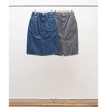 Name. (WOMENS) : SELVEDGE DENIM SKIRT (USED WASH)