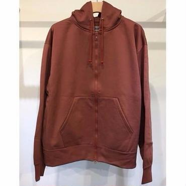 KIIT : NYLON /COTTON PILE ZIP UP HOODIE TOPS