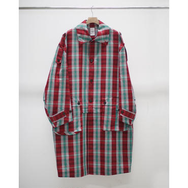 Name. : PLAID COTTON RAMIE SOUTIEN COLLAR COAT