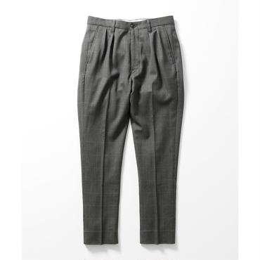 Name. : GLEN PLAID TAPERED TROUSERS