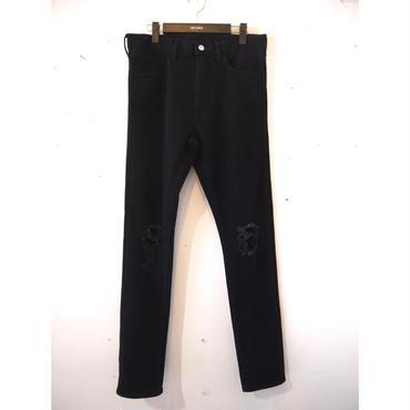 The Letters :5 Pocket Crash Denim Slim Pants