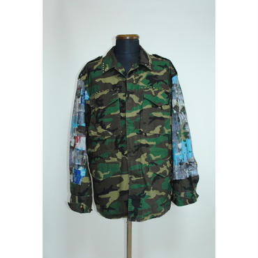 TAAKK : WALL ART PRINT CAMO JACKET