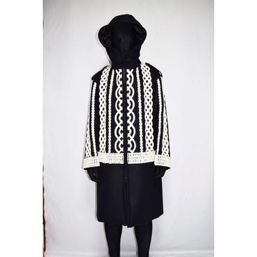 TAAKK : KNIT EMBROIDERY COAT