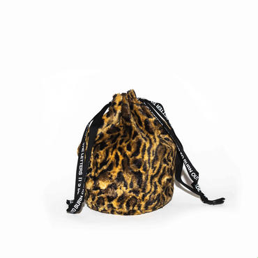 The Letters : Strap Bag - Leopard Fur -