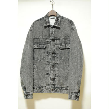 TAAKK : Chemical Wash Denim Jacket