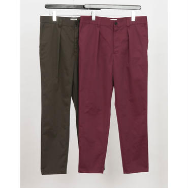 MAINTENANT : T/C TWILL WASH NEW 1TUCK PANTS