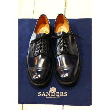 "SANDERS : MILITARY DERBY SHOE ""CAP TOE"""