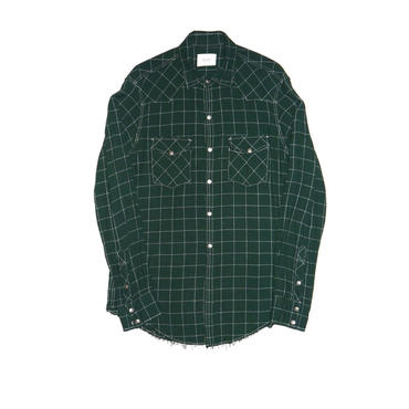 The Letters : Rayon Check Western Shirt