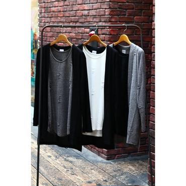S.i.m : Double Face Cut sew Cardigan with Tanktop
