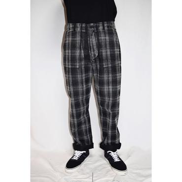 TAAKK : TEAR OFF CHECK COMBINATION TROUSERS