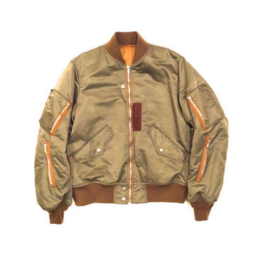 The Letters : Nylon Twill Flight Jacket