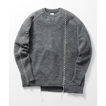 Name. : REMAKE LIKE CREW NECK SWEATER