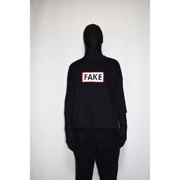 TAAKK : TIP OVER SPANGLE FAKE⇆REAL TEE