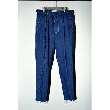 JOHN MASON SMITH : TUCK BELT SLUCKS DENIM