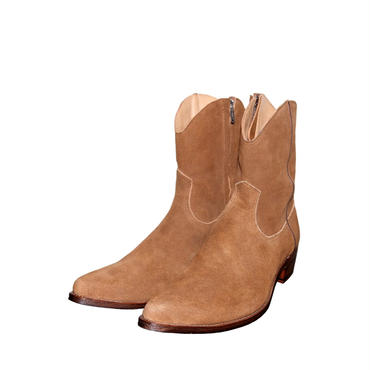 The Letters : Cow Boy Suede Side Zip Pointed Boots