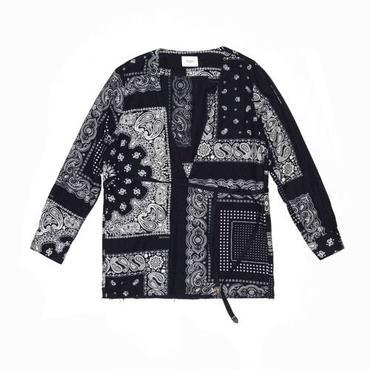 The Letters : V Neck Strap Shirt - Bandana Flannel -