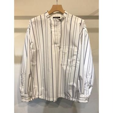 KIIT : C / E STRIPE BAND COLLAR P/O L/SLEEVE SHIRTS