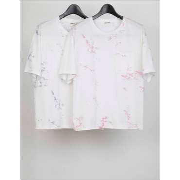 MAINTENANT : JERSEY STAIN PRINT POCKET T-SHIRT