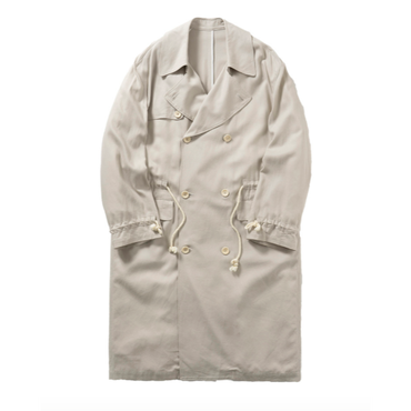 Name. : RAYON / LINEN ROPE DRAWSTRINGS TRENCH COAT