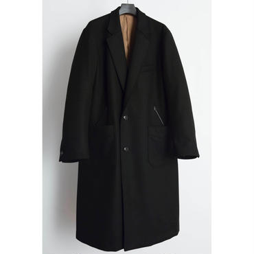 The Letters : Western Chesterfield Coat - Melton Wool -