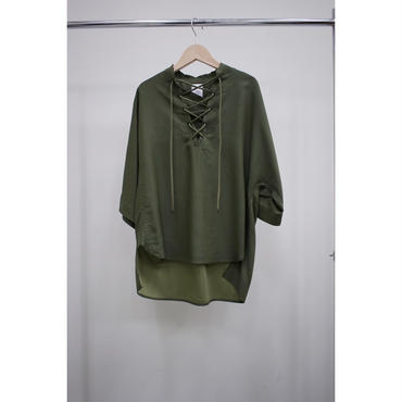 Name. (ladies) : WOOL CUPRA PULLOVER SHIRT