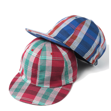 Name. : PLAID COTTON RAMIE 6-PANEL CAP