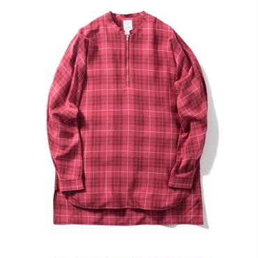 Name. : PLAID RAYON HALF ZIP DOLMAN SHIRT