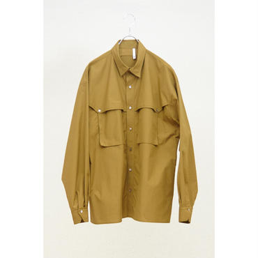 HUMIS : BIG SILHOUETTE TRANSFORMED MILITARY SHIRT