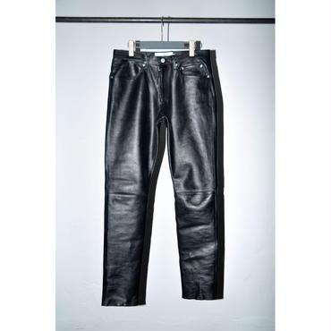 JOHN MASON SMITH : Leather 5Pocket Pants