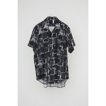 HUMIS : DEFORMATION OPENCOLLAR 3PK SHORT SLEEVE DOUBLE SHIRT