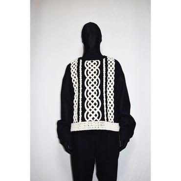 TAAKK : KNIT EMBROIDERY PULL OVER SHIRT