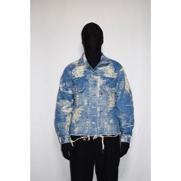 TAAKK : CONTRAST DENIM JACQUARD JACKET (CRASH)