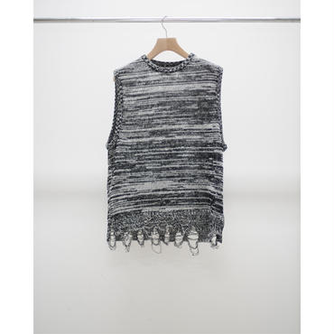 Name. : MIXED KNIT VEST
