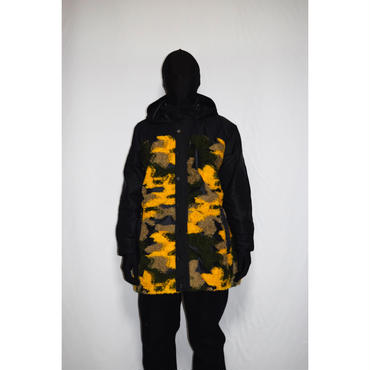 TAAKK : LONG THREAD CAMOUFLAGE HOODED JACKET