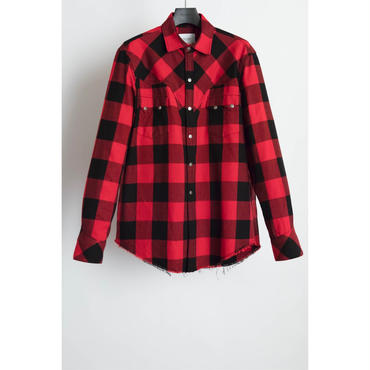 The Letters : Western Harry Shirt - Buffalo Check Flannel -