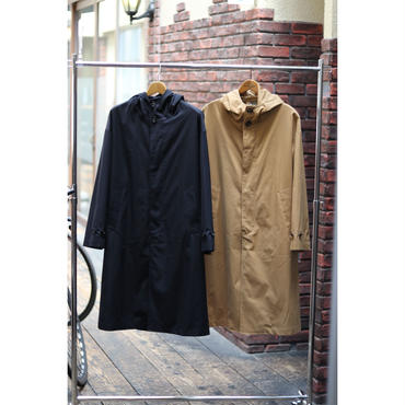 WYATT : C/T 400 TWILL BIO WASH HOODED COAT