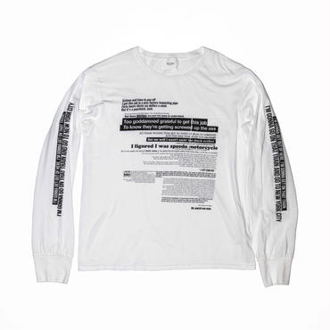 The Letters : Piss Factory Pocket L/S T-shirt