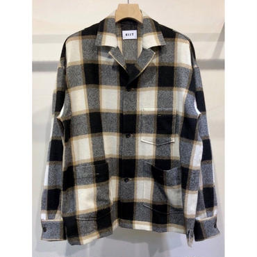 KIIT : BLOCK CHECK OPEN COLLAR SHIRT