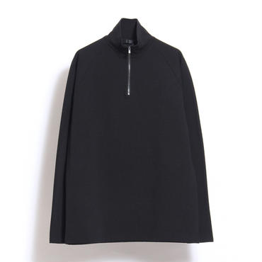 JUHA : HALF ZIP MOCK-NECK TEE