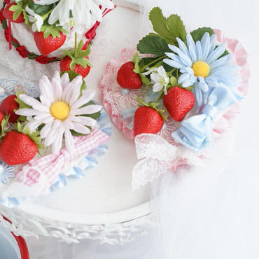 DAISY strawberry heart pink