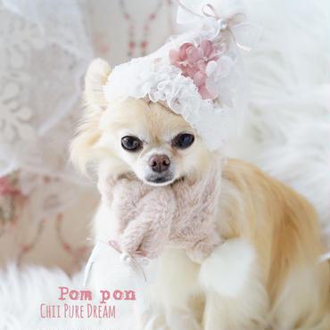 柔らかサンタ帽&マフラー(ピンク)