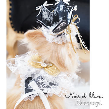 Noir et  blanc♡Blanc angel Heart choker