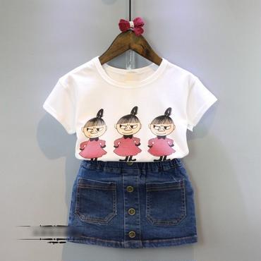 ミイTee×デニムスカート