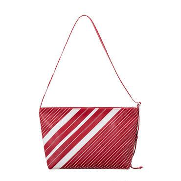 ストライププリントショルダーバッグ(RED)
