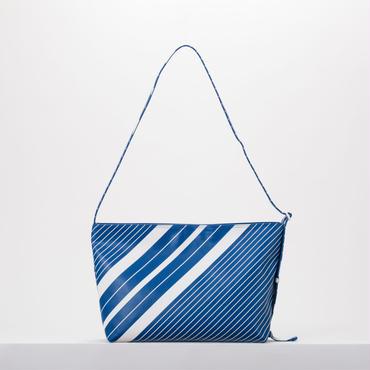 ストライププリントショルダーバッグ(BLUE)
